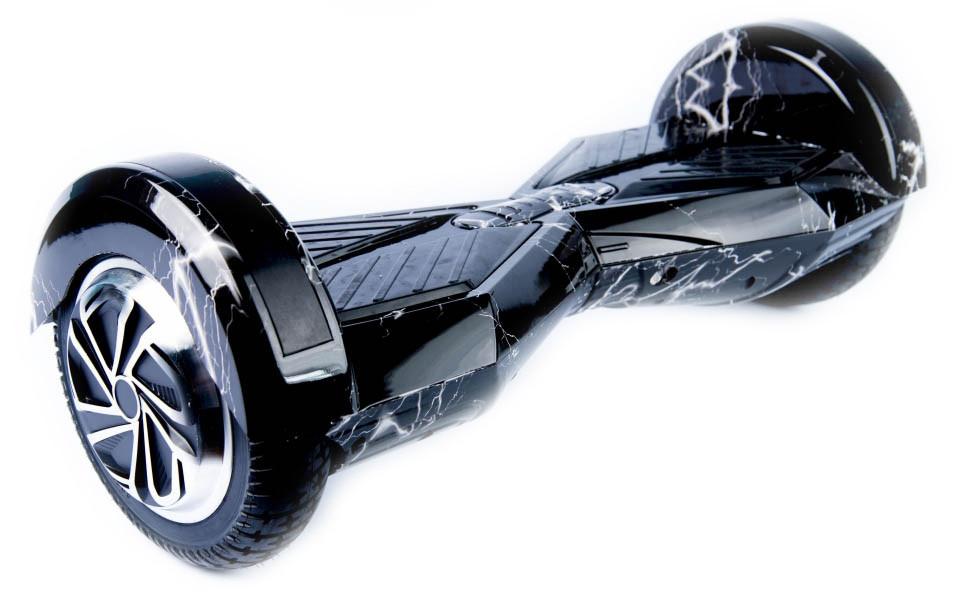 """Smart balance wheel Трансформер 8"""", гироцикл черная молния с приложением Tao-Tao App"""