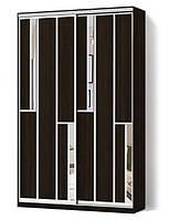 Шкаф-купе Стандарт двухдверный с фасадами комбинированными (ДСП+зеркало)