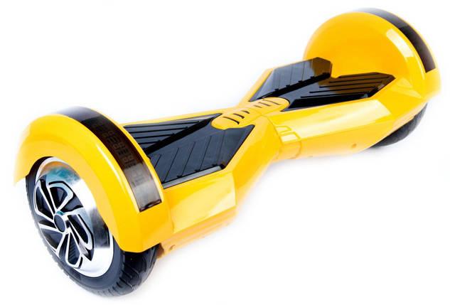 "Smart balance wheel Transformers 8"" гироцикл, ховерборд цвет желтый Tao-Tao App и самобалансом, фото 2"