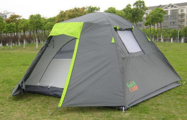 Палатка 1013-4 GreenCamp качественная туристическая двухслойная 4-х четырехместная