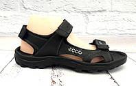 Босоножки мужские спортивные ECCO натуральные кожаные цвета темные E0046
