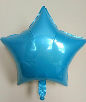 Куля зірка фольгована, БЛАКИТНА - 25 см (10 дюймів)