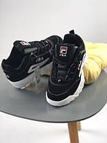 Женские кроссовки Fila Disruptor 2 Black, Фила Дизраптор, фото 3