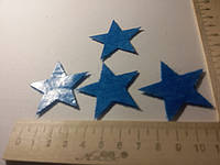 Клеевая фетровая аппликация синяя звезда
