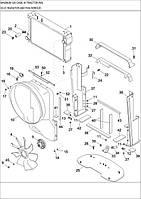 02-01 КОЖУХ ВЕНТИЛЯТОРА І РАДІАТОРА - кожух вентилятора и радиатора - radiator and fan shroud - трактор Case Magnum 335 - всі запчастини - все