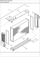 02-02 ВУЗОЛ РАДІАТОРА - узел радиатора - radiator assembly - трактор Case Magnum 335 - всі запчастини - все запчасти