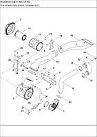 02-04 СИСТЕМА ЗАБОРУ ПОВІТРЯ - система забора воздуха - air induction system - standard duty - трактор Case Magnum 335 - всі запчастини - все запчасти