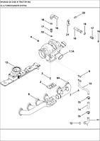 02-14 СИСТЕМА ТУРБОНАГНІТАЧА - система турбонагнетателя - turbocharger system - трактор Case Magnum 335 - всі запчастини - все запчасти