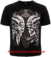 Футболка Викинг с черепом (Viking with skull) черная. ОПТ/РОЗ