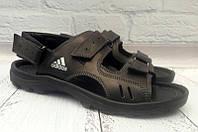Босоножки мужские Adidas натуральные кожаные черные AD0074