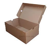 Коробка для обуви, бурая, 325*195*120 мм, микрогофрокартон, крафт, обувная коробка