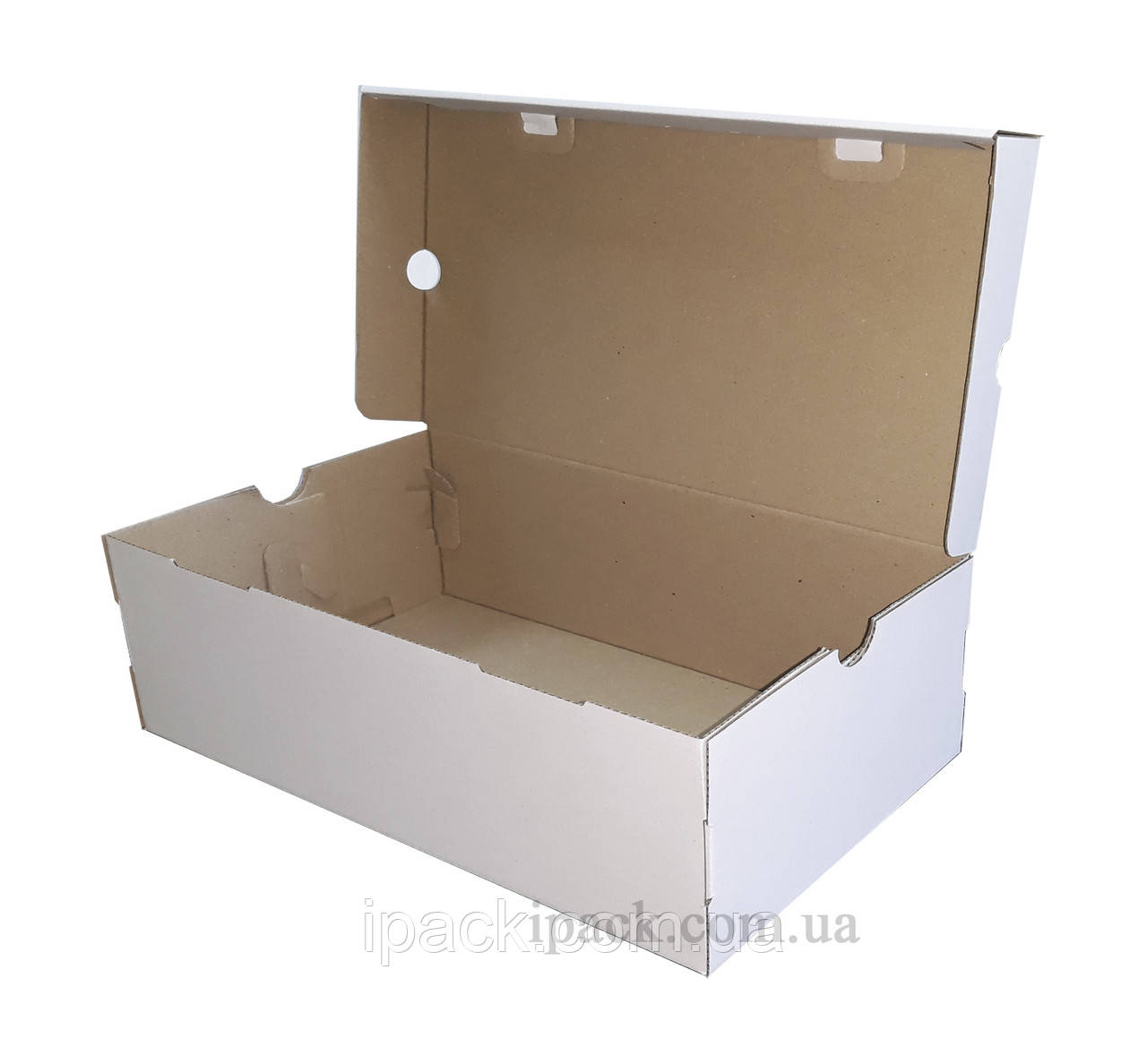 Коробка для обуви, белая, 330*250*170 мм, микрогофрокартон, обувная коробка
