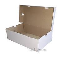 Коробка для обуви, белая, 325*195*120 мм, микрогофрокартон, обувная коробка