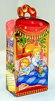 Упаковка праздничная новогодняя из картона Коляда (красная), 500г