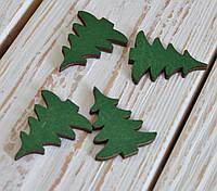 Набор елок из дерева маленьких 4шт