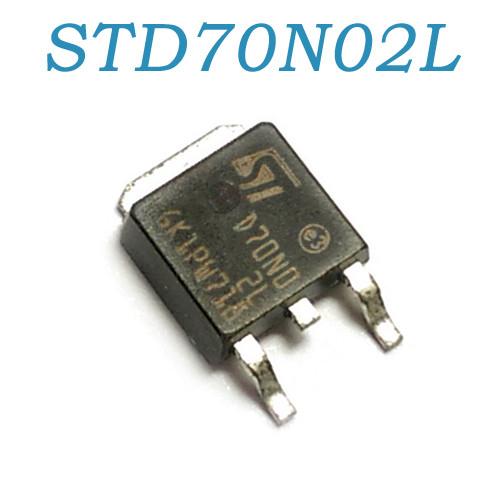 STD70N02L, MOSFET транзистор N-канал, 24В, 60А, TO252