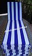 Матрас для шезлонга-лежака 180*60*3 см, Украина, полоска, фото 2