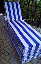 Матрац для шезлонга-лежака 180*60*3 см, Україна, смужка