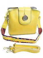Лимонная женская кожаная сумка через плечо 607G, фото 1