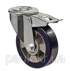 """Колесо поворотне серія 59 """"Norma"""" з отвором та гальмом, кульковий підшипник, діаметр-160мм"""