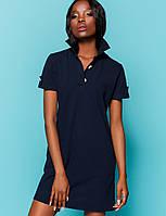 Женское летнее платье из ткани лакост (Тарина jd) Т.синий fc786f3597154