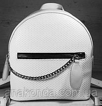 115 Натуральная кожа Городской рюкзак Кожаный рюкзак Из натуральной кожи Рюкзак женский белый рюкзак белый, фото 3