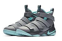 Баскетбольные кроссовки Nike LeBron Soldier XI 11 Igloo Grey Blue, фото 1