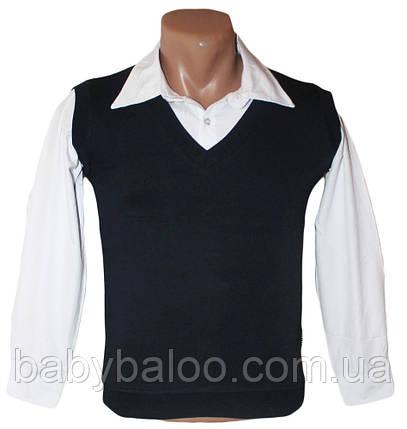 Рубашка для мальчика обманка жилетка (от 6 до 12 лет), фото 2