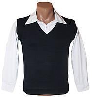 Рубашка для мальчика обманка жилетка (от 6 до 12 лет)