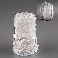 Свадебная свеча Сердца 13 см 012Q