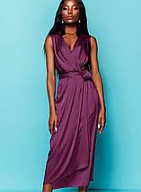 Женское шелковое платье-миди с поясом (Сати jd), фото 3