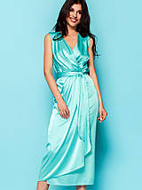 Женское шелковое платье-миди с поясом (Сати jd), фото 2