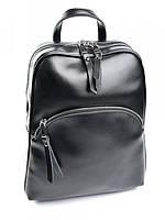 Кожаный женский рюкзак A-1198-1 черный, фото 1