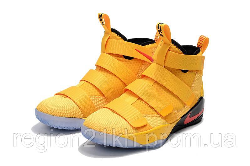 Баскетбольные кроссовки Nike LeBron Soldier XI 11 PE Yellow Red