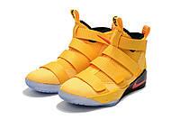 Баскетбольные кроссовки Nike LeBron Soldier XI 11 PE Yellow Red, фото 1