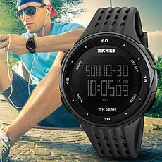 Спортивные водонепроницаемые часы Skmei 1219 Black, фото 2