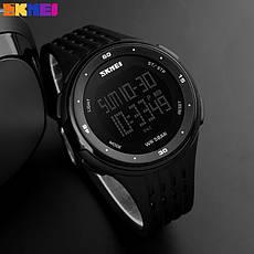 Спортивные водонепроницаемые часы Skmei 1219 Black, фото 3