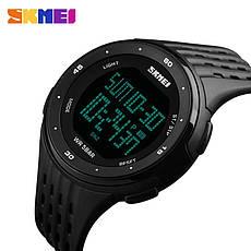 Спортивні водонепроникні годинники Skmei 1219 Black, фото 3