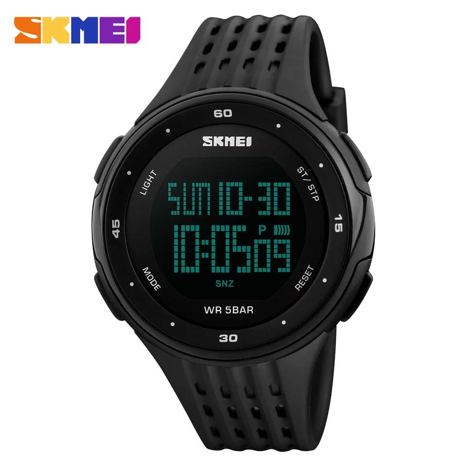 Спортивні водонепроникні годинники Skmei 1219 Black