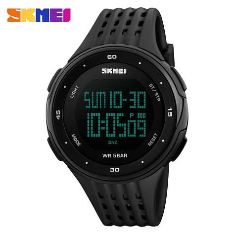 Спортивні водонепроникні годинники Skmei 1219 Black, фото 2