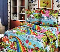 Детский комплект постельного белья в кроватку Радуга