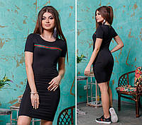 Платье женское с полосой  ндев303, фото 1