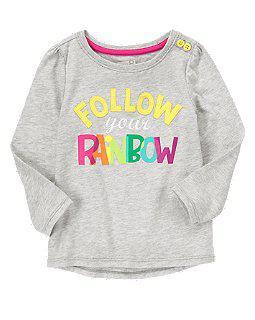 Реглан с надписью Follow your rainbow (Размер 18-24мес)  Сrazy8 (США)