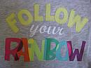 Реглан с надписью Follow your rainbow (Размер 18-24мес)  Сrazy8 (США), фото 2