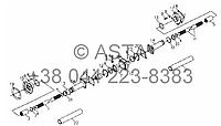 Передний ведущий вал коробки передач (опционально) на YTO X704