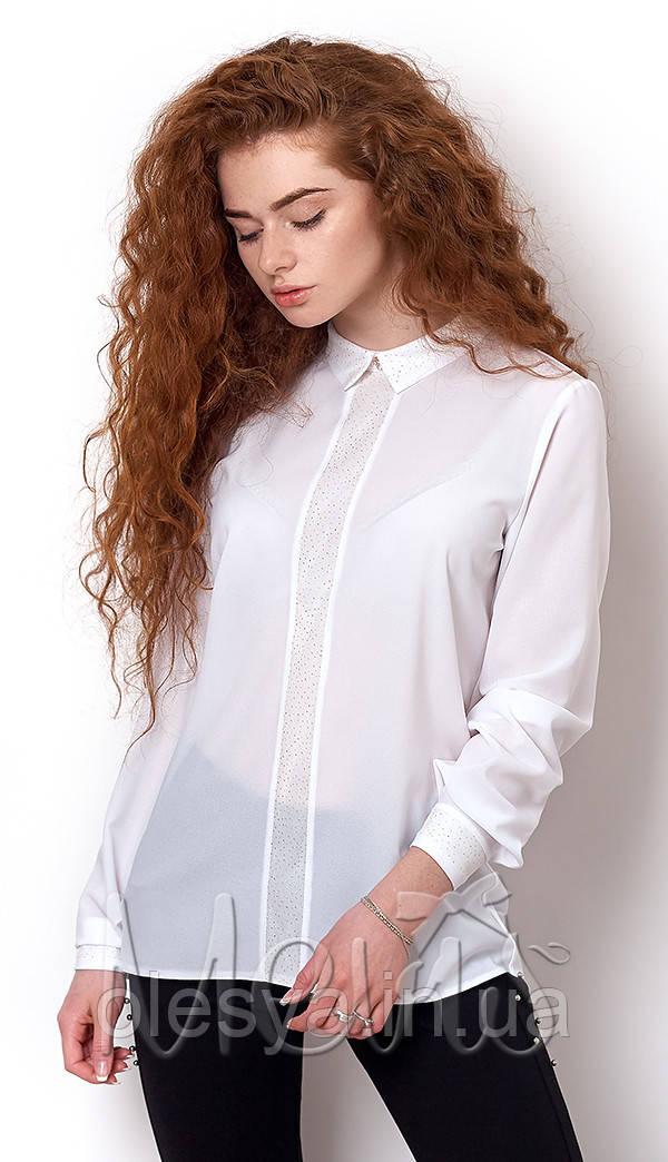 Блуза школьная с длинным рукавом на девочку ТМ Mevis Размеры 146- 152 -  Магазин Олеся 0996671fbfcfd