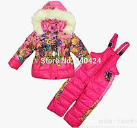 Детский зимний комбинезон с курткой для девочки, Монклер