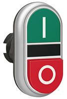 Механизм двухклавишной кнопки пуск/стоп кр./зел. с символ I-0 LPCB7222