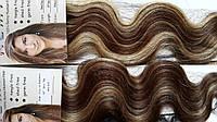 Волосы на заколках кудрявые 50 см. Мелированные., фото 1