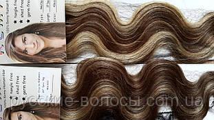 Волосы на заколках кудрявые 50 см. Мелированные.